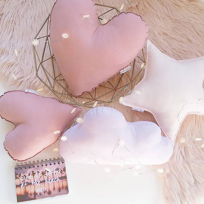 heart cushions cotton