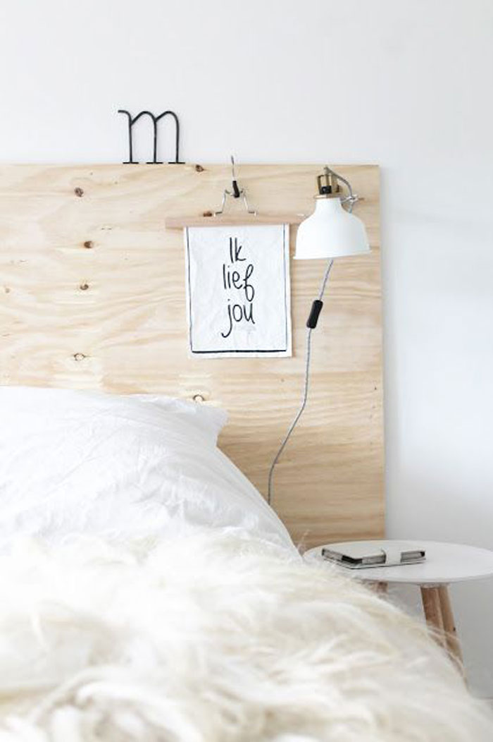 plywood headboard ideas