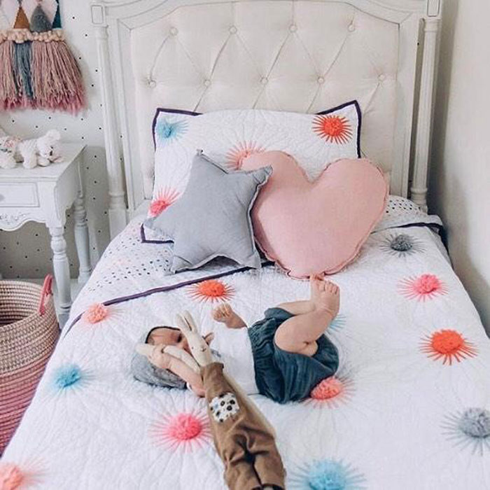 heart and star cushions