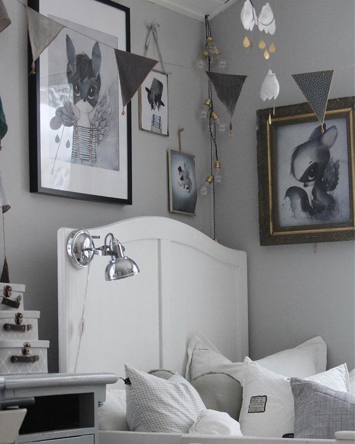 white headboard kid's bed