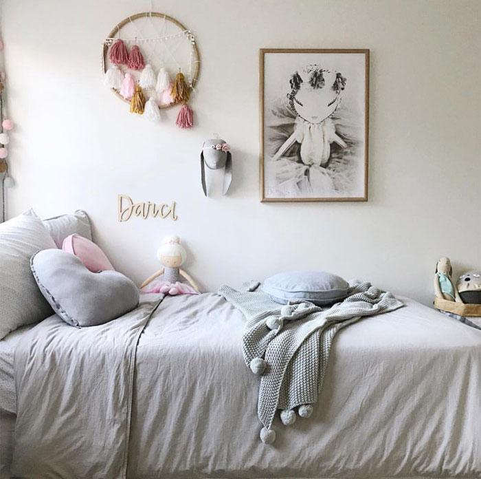 grey heart cushion