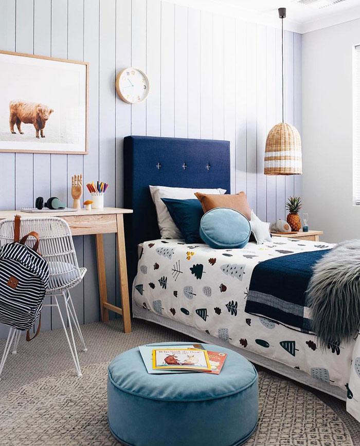 upholstered headboard for kid's bed