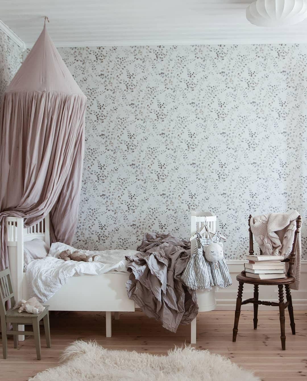 grey white nursery wallpaper