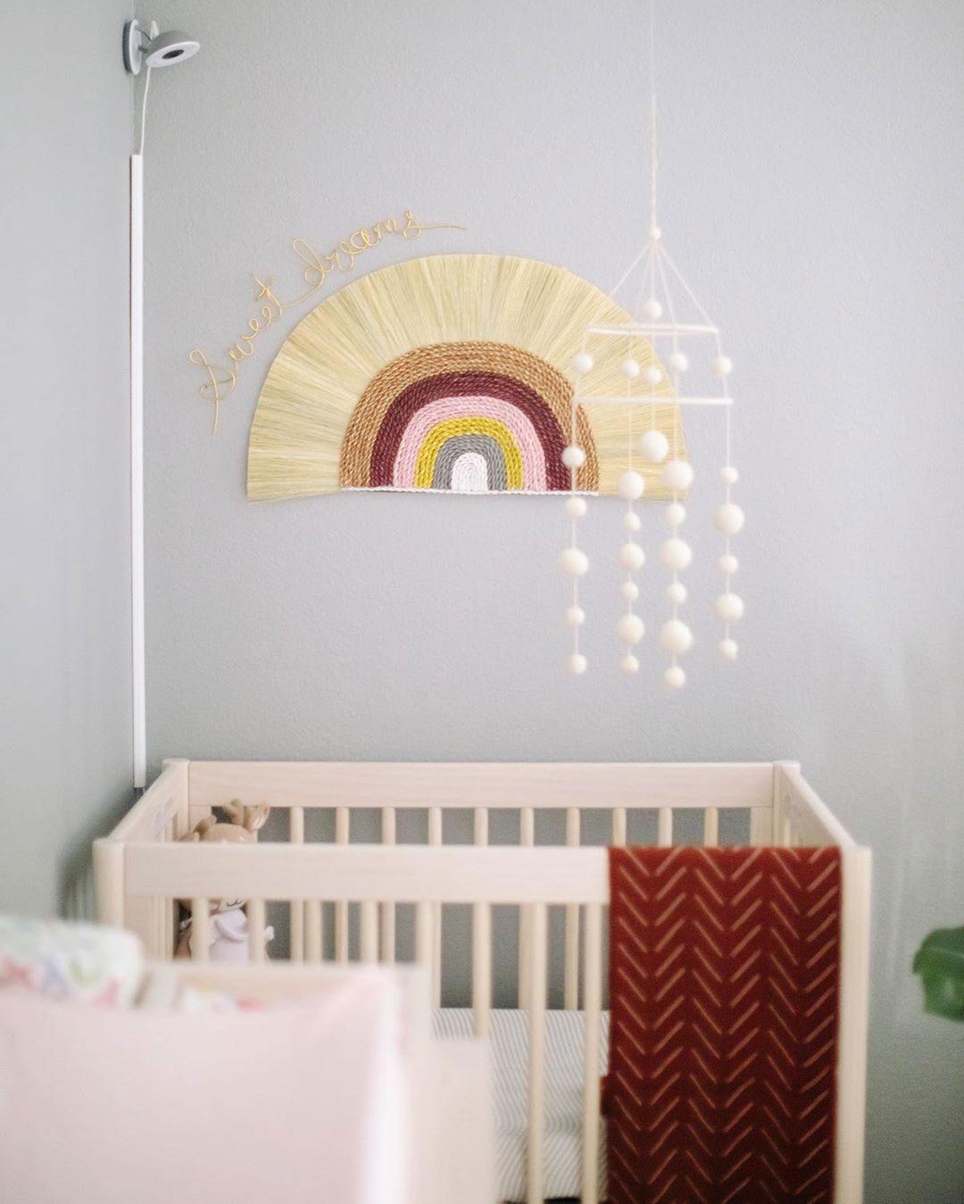 rainbow wall décor nursery