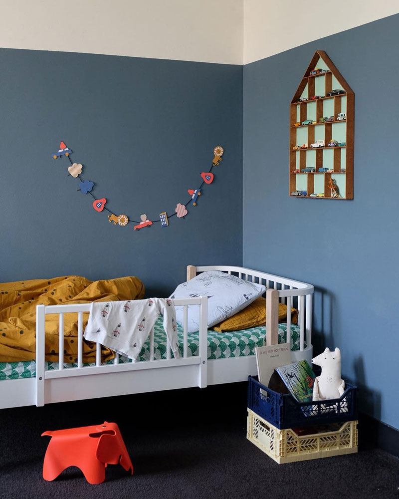 classic blue in childrens' rooms