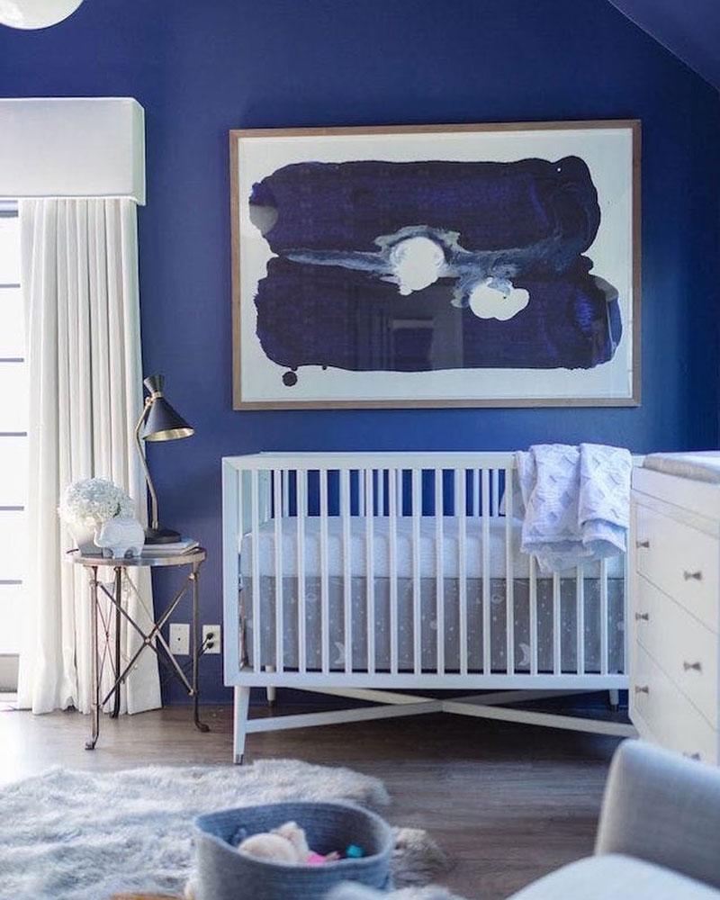 classic blue pantone nursery room