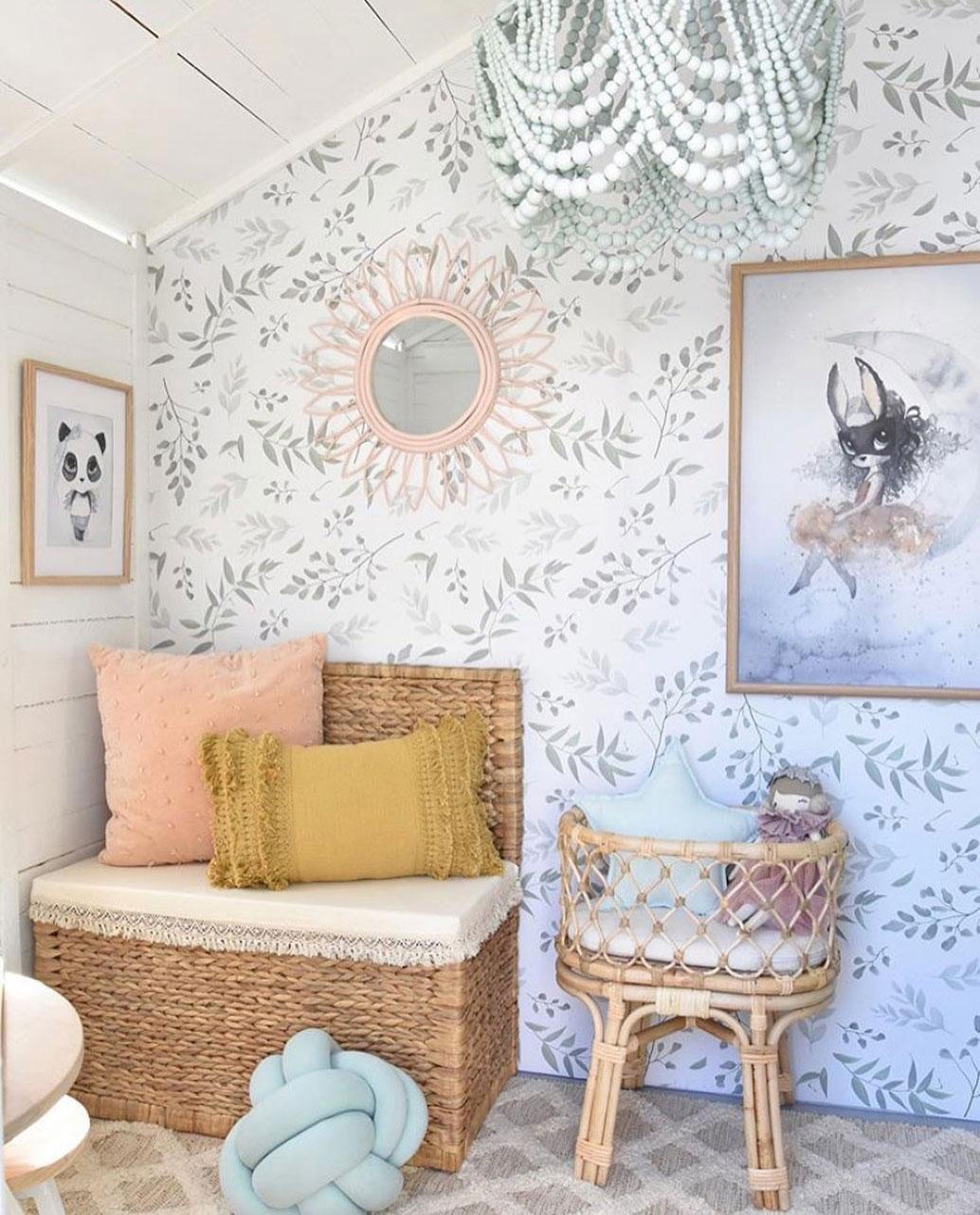 leafy kids wallpaper
