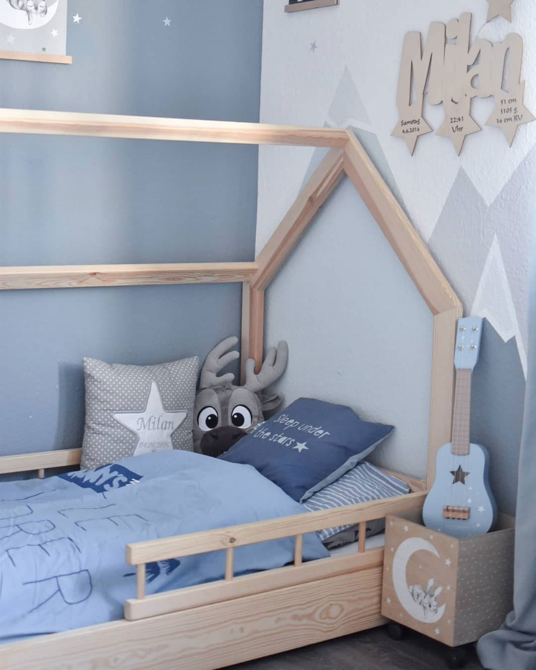 boy's room in classic blue