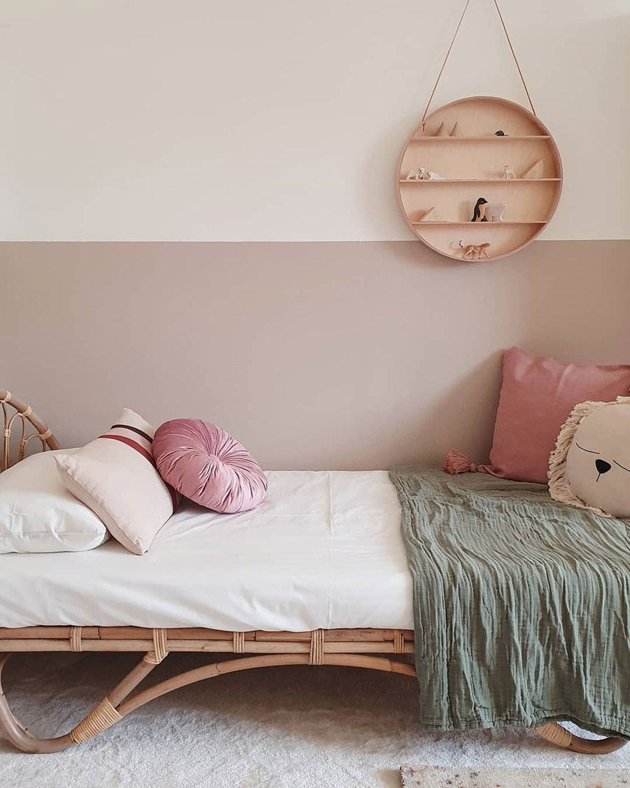 rattan kids bed