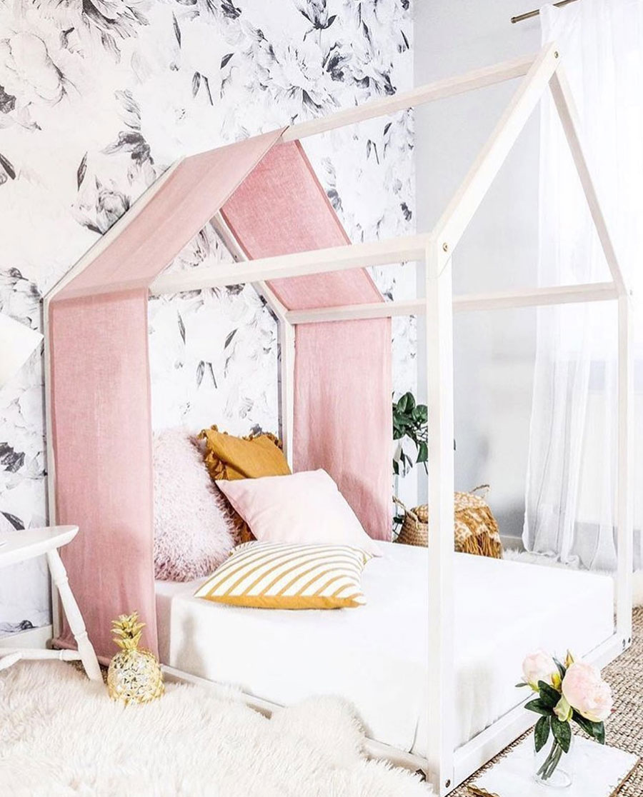 kid's housebed canopy