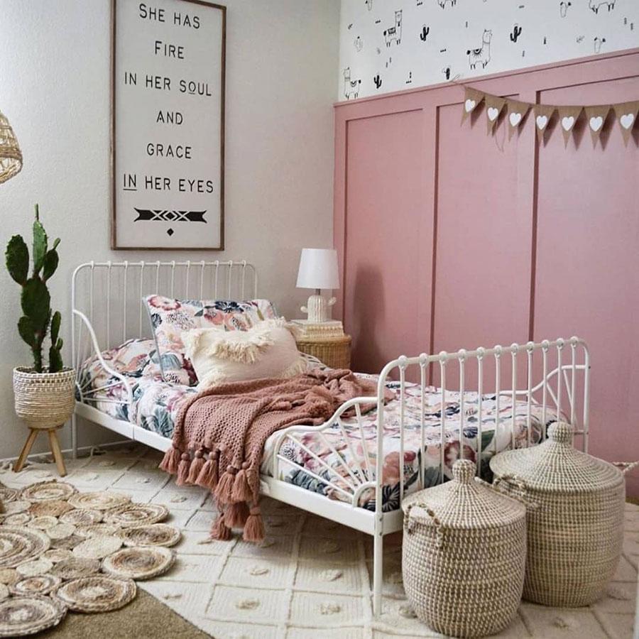 vintage pink girl's room