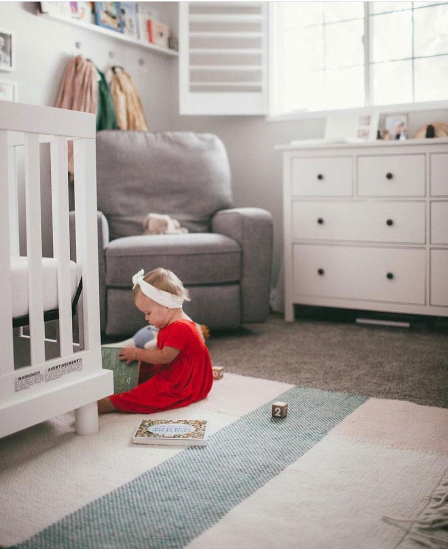 striped rug baby nursery
