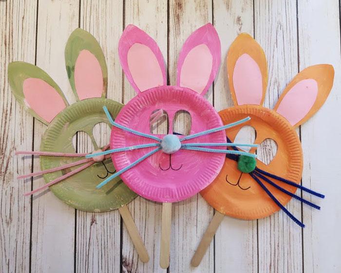 easter bunny mask diy for kids
