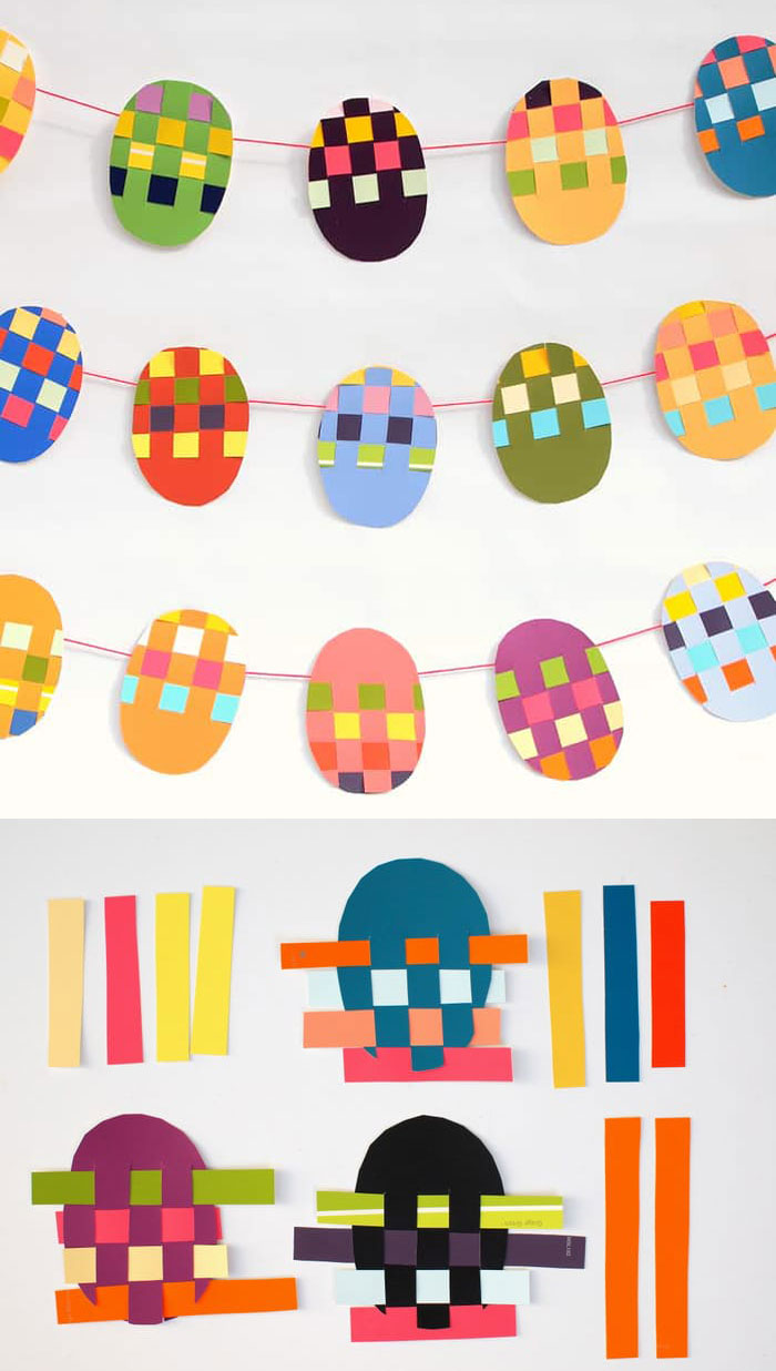 easter décor made by kids