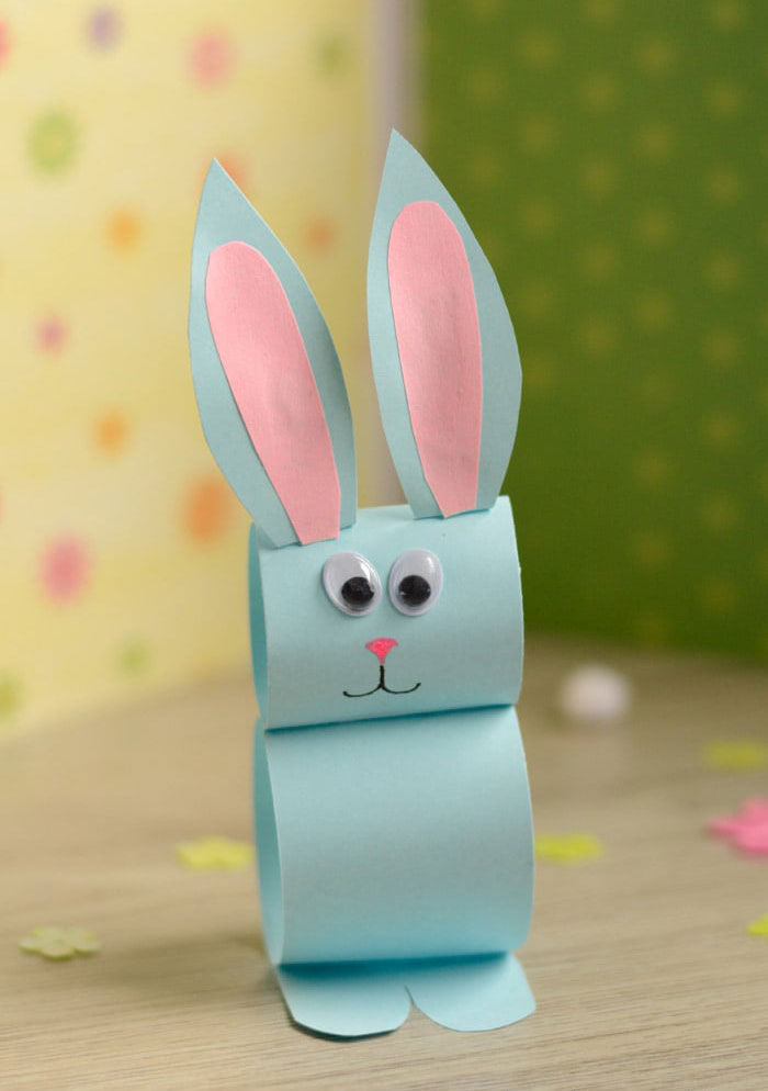 easter bunny by toilet roll diy