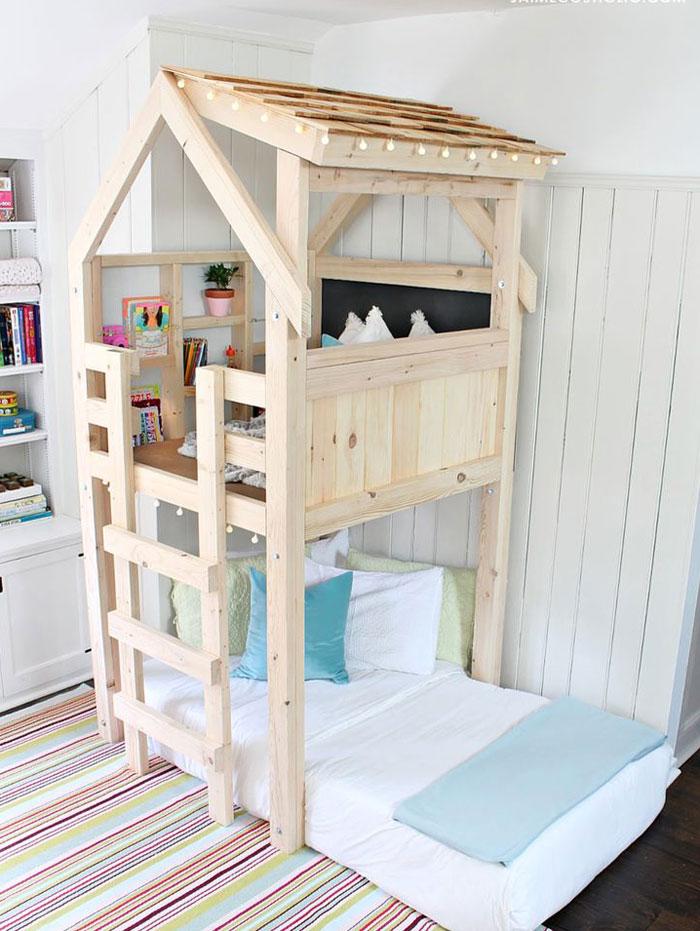 fun wooden indoor playhouse