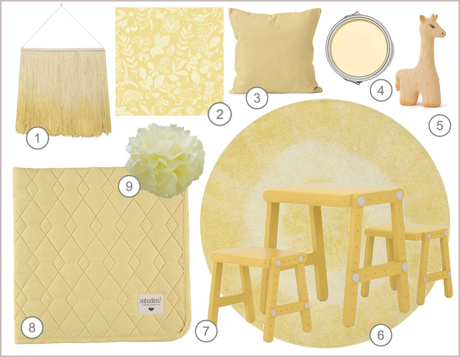 soft yellow for the kid's room
