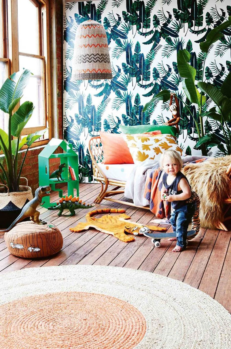 tropical children's room