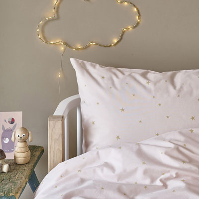 Pink Gold Star Bedding Kids, Pink And Gold Star Bedding