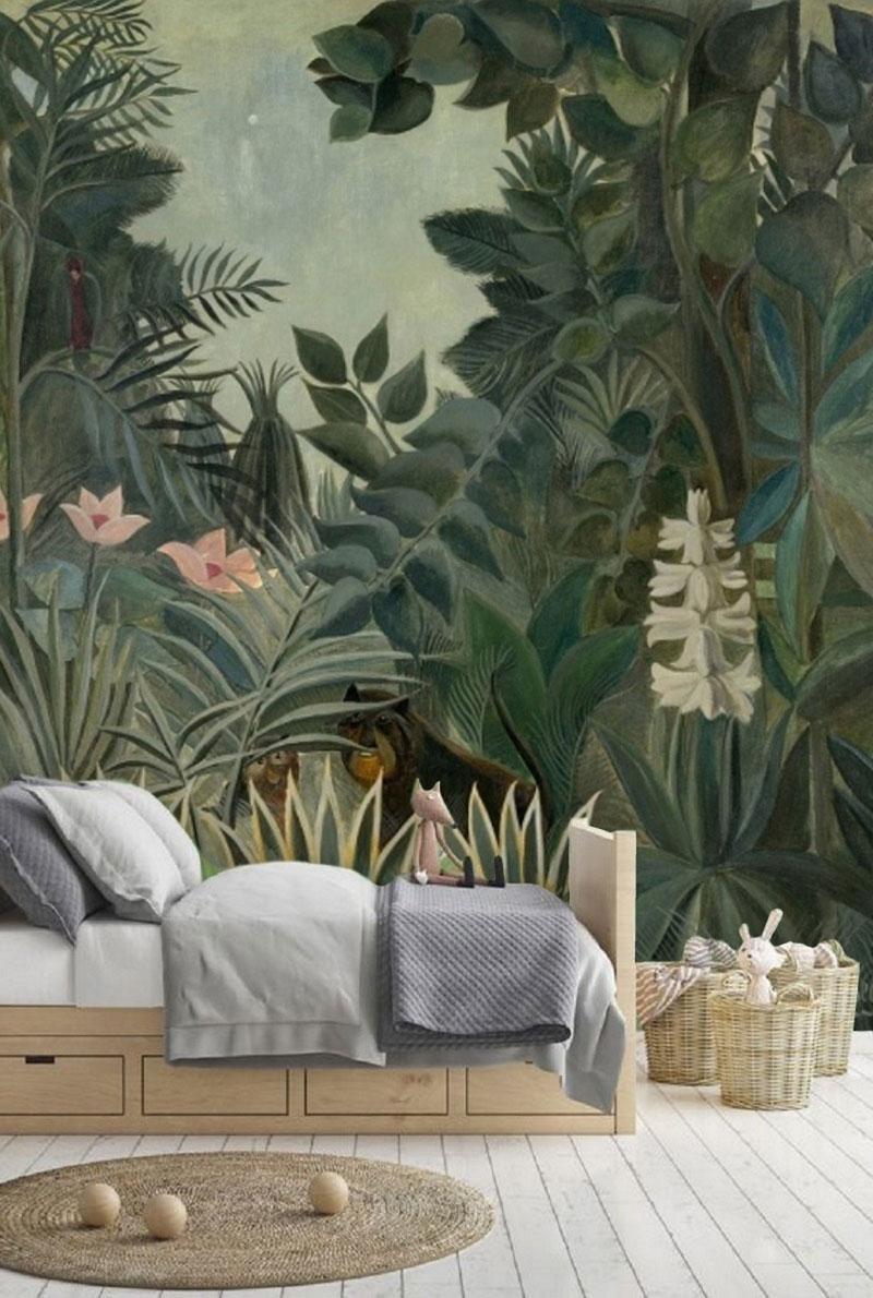 douanier rousseau style wall décor
