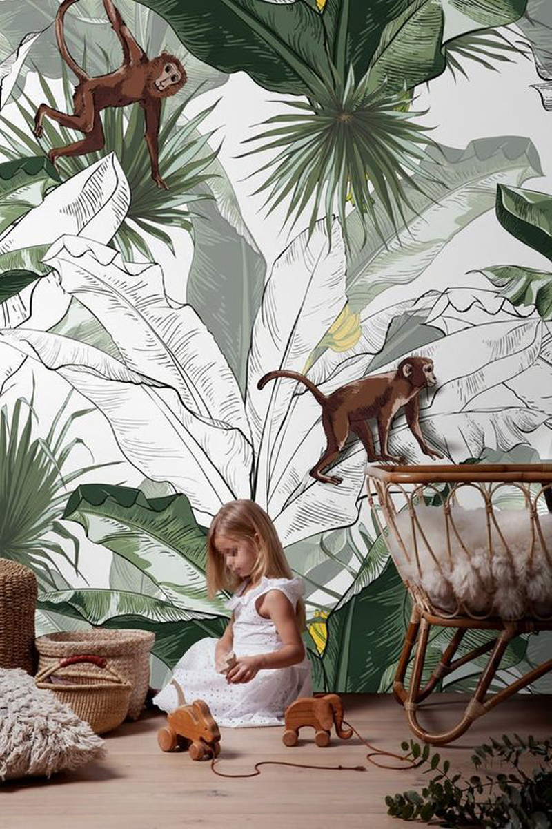 rainforest theme kid's room