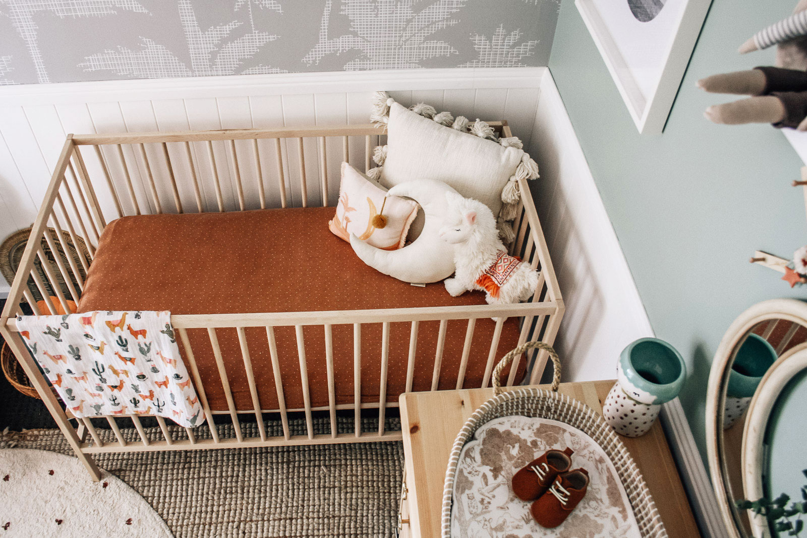 terracotta baby cot sheet