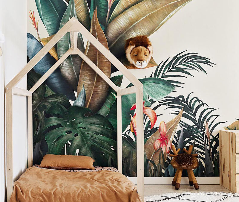 KIDS' ROOMS WITH A TROPICAL VIBE