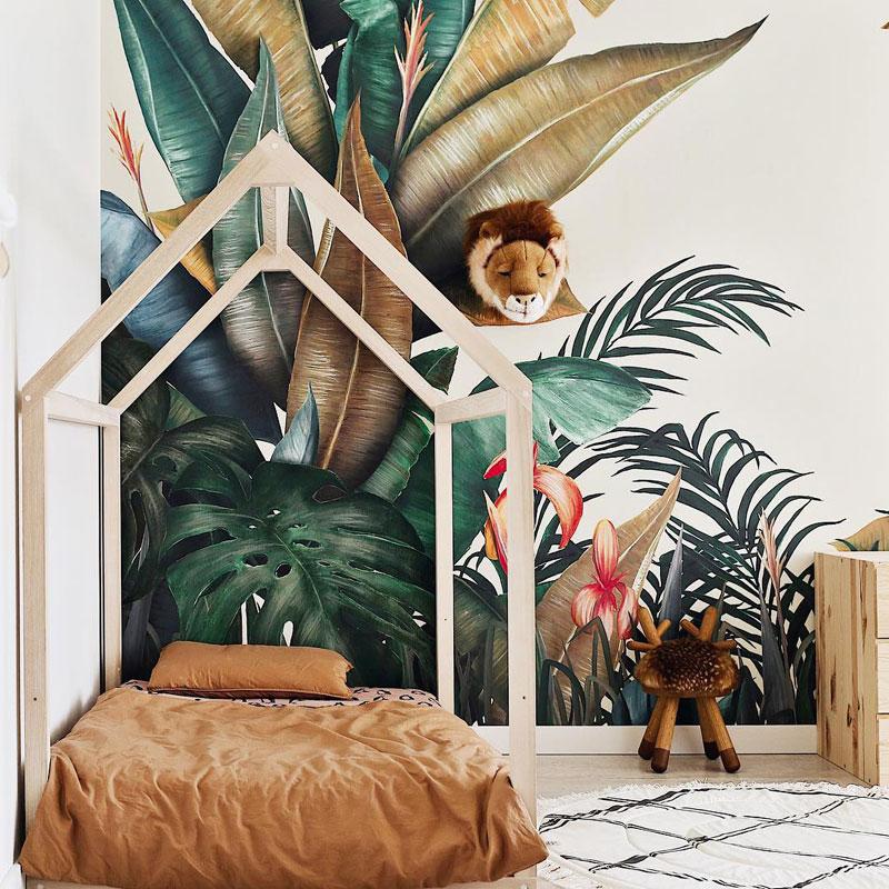 kid's room tropical theme