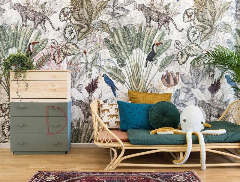 exotic wallpaper kid's room