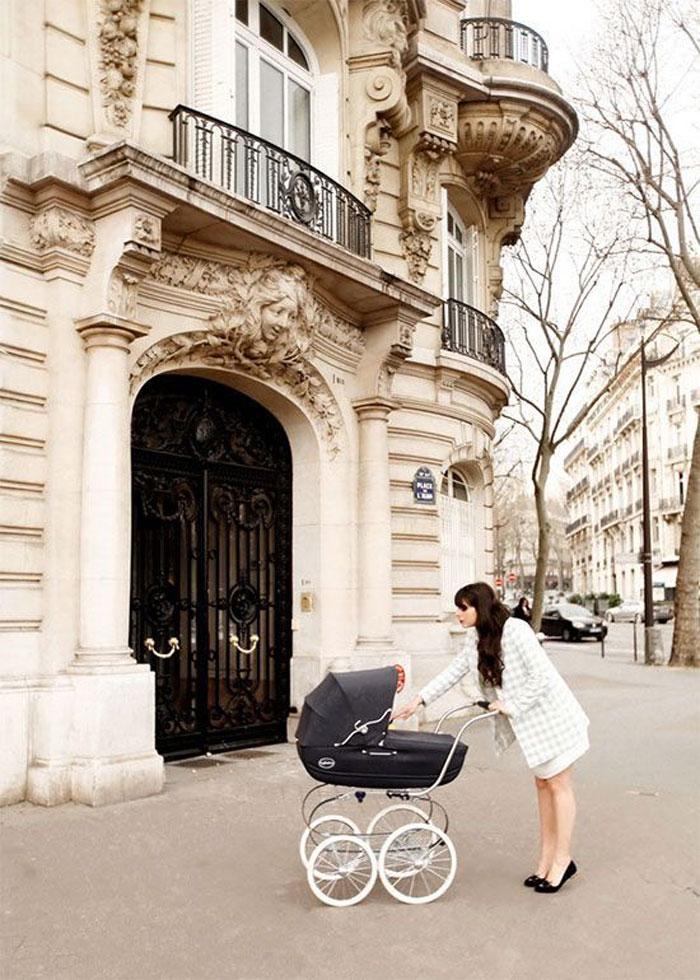 chic baby pram parisian style