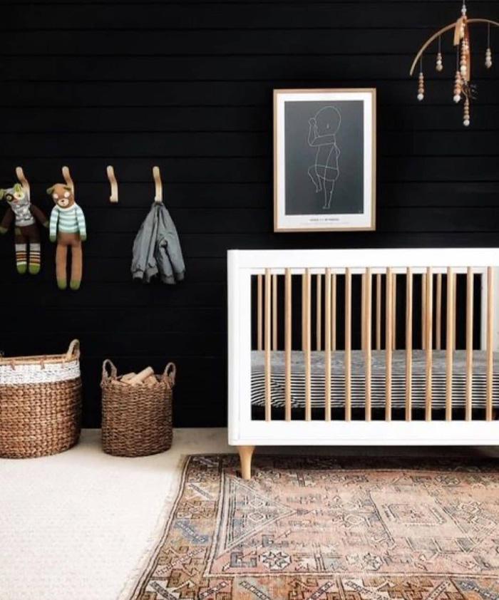 psychology black baby nursery