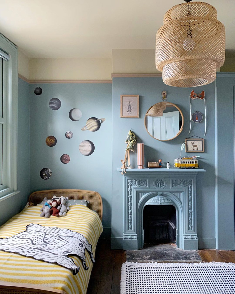 psychology blue in kid's rooms
