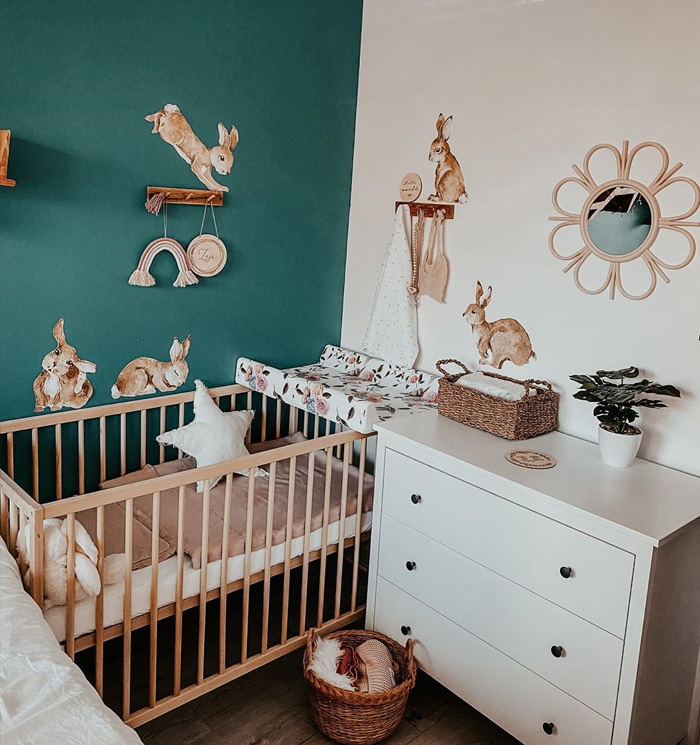psychology green for baby nursery