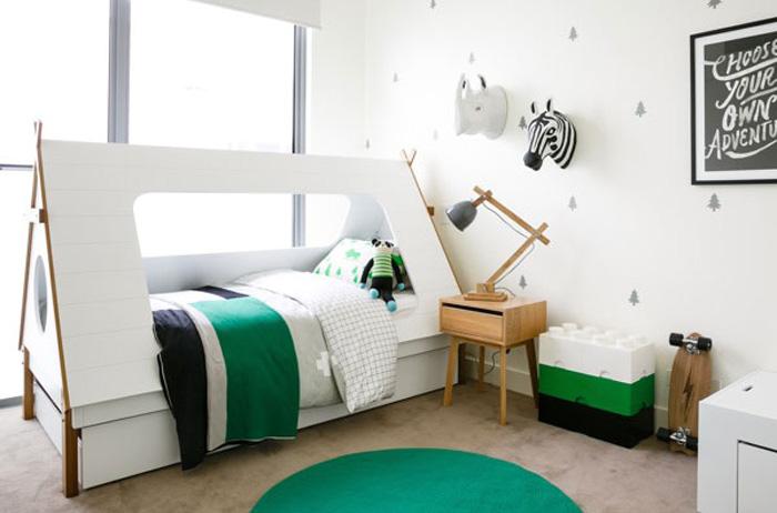 psychology green boy's room