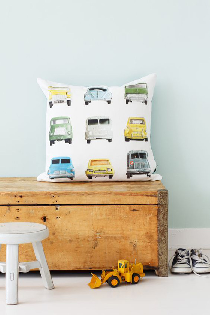 pillow cover with cars