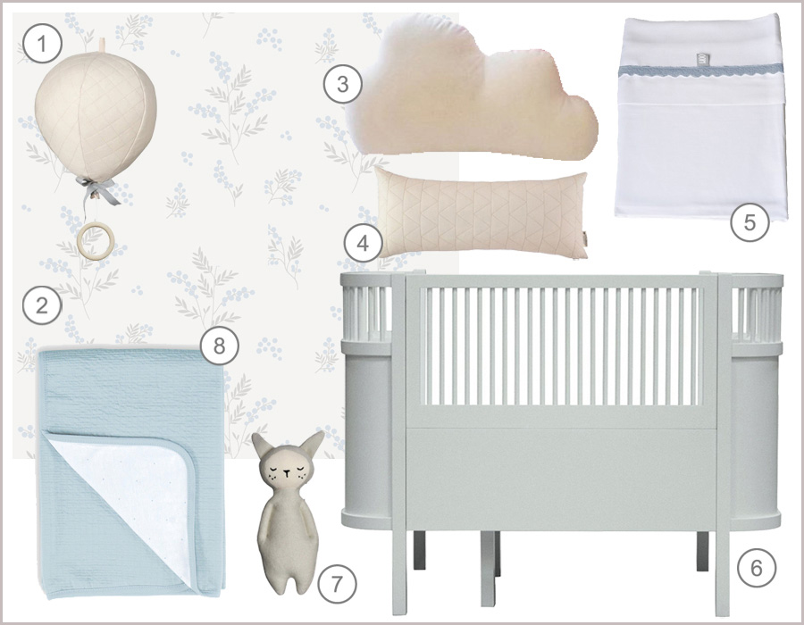 light blue kids décor