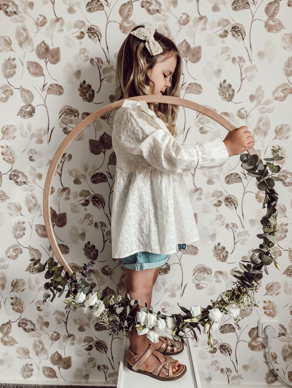 handmade flower wreath