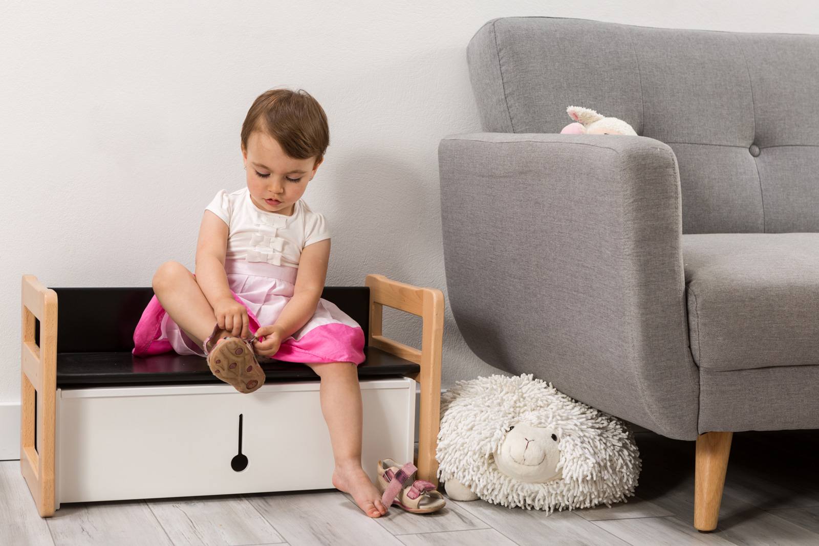 bench and storage furniture all in one kids