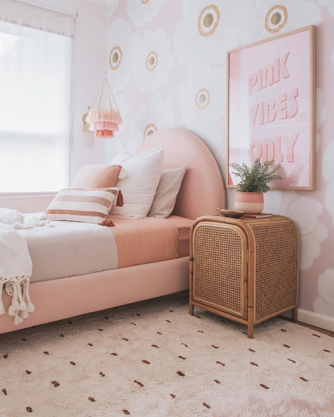 peachy pink in girls rooms