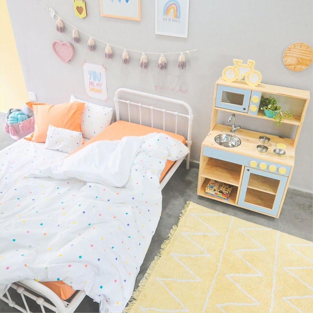 pale pastel yellow in kids' rooms