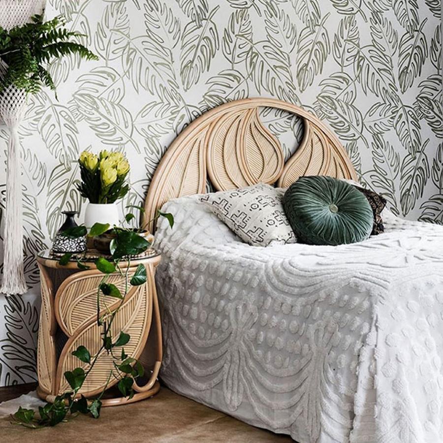 leafy wallpaper kid's room