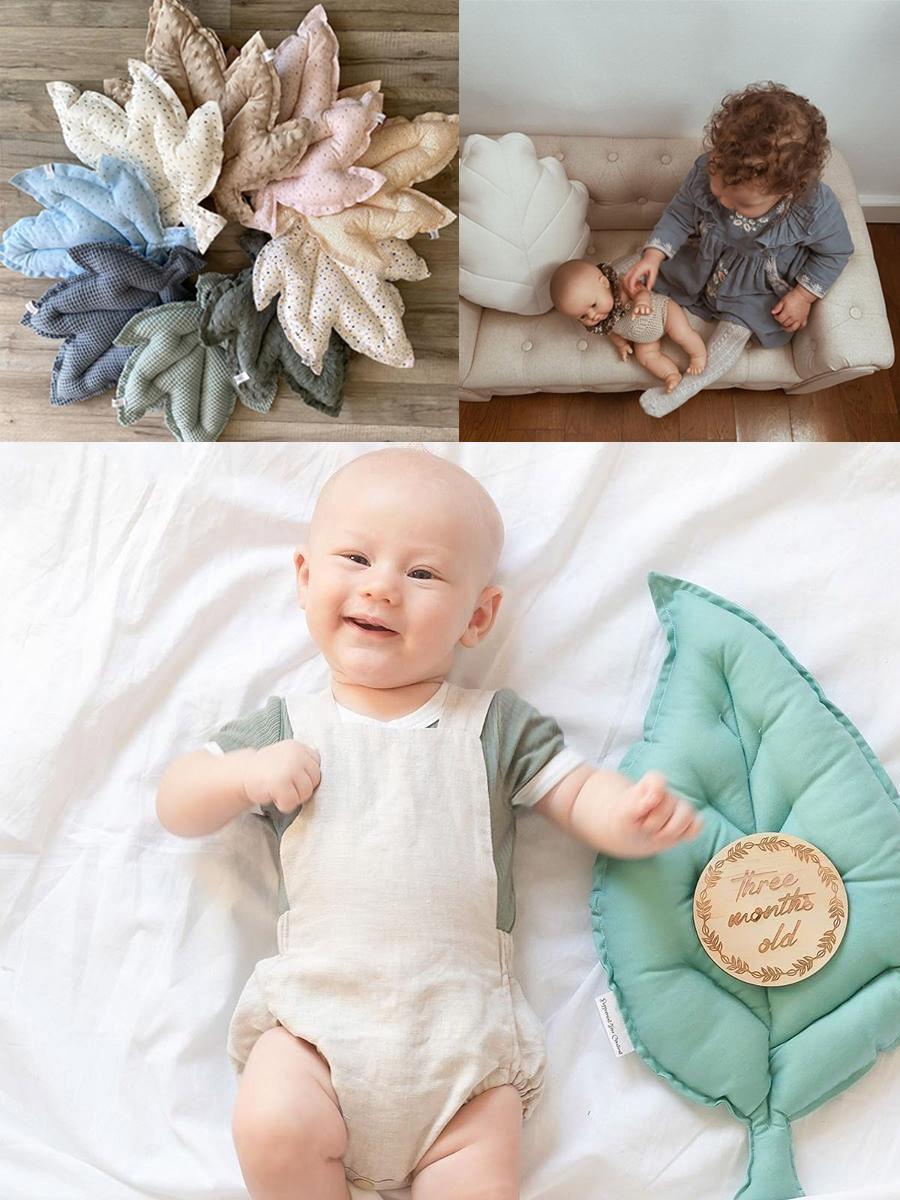 leaf cushions nursery kid's room