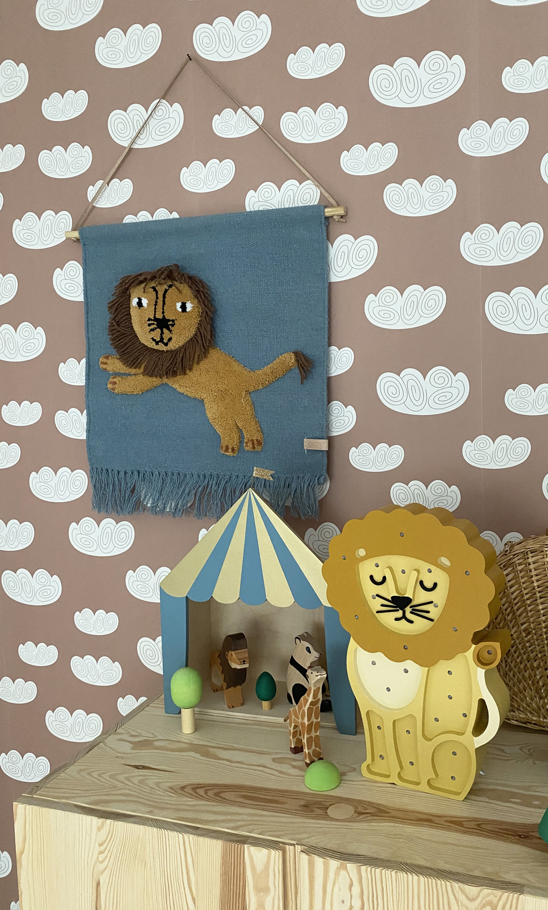 lion wall hanging kid's room