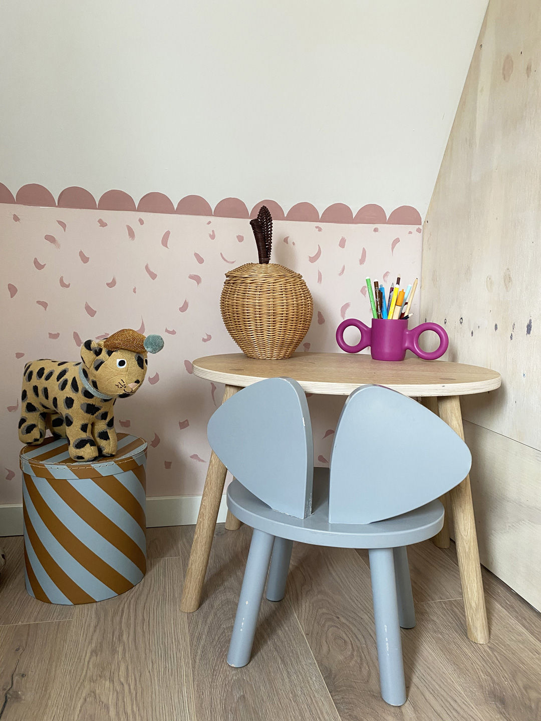 table and chair for kids play corner