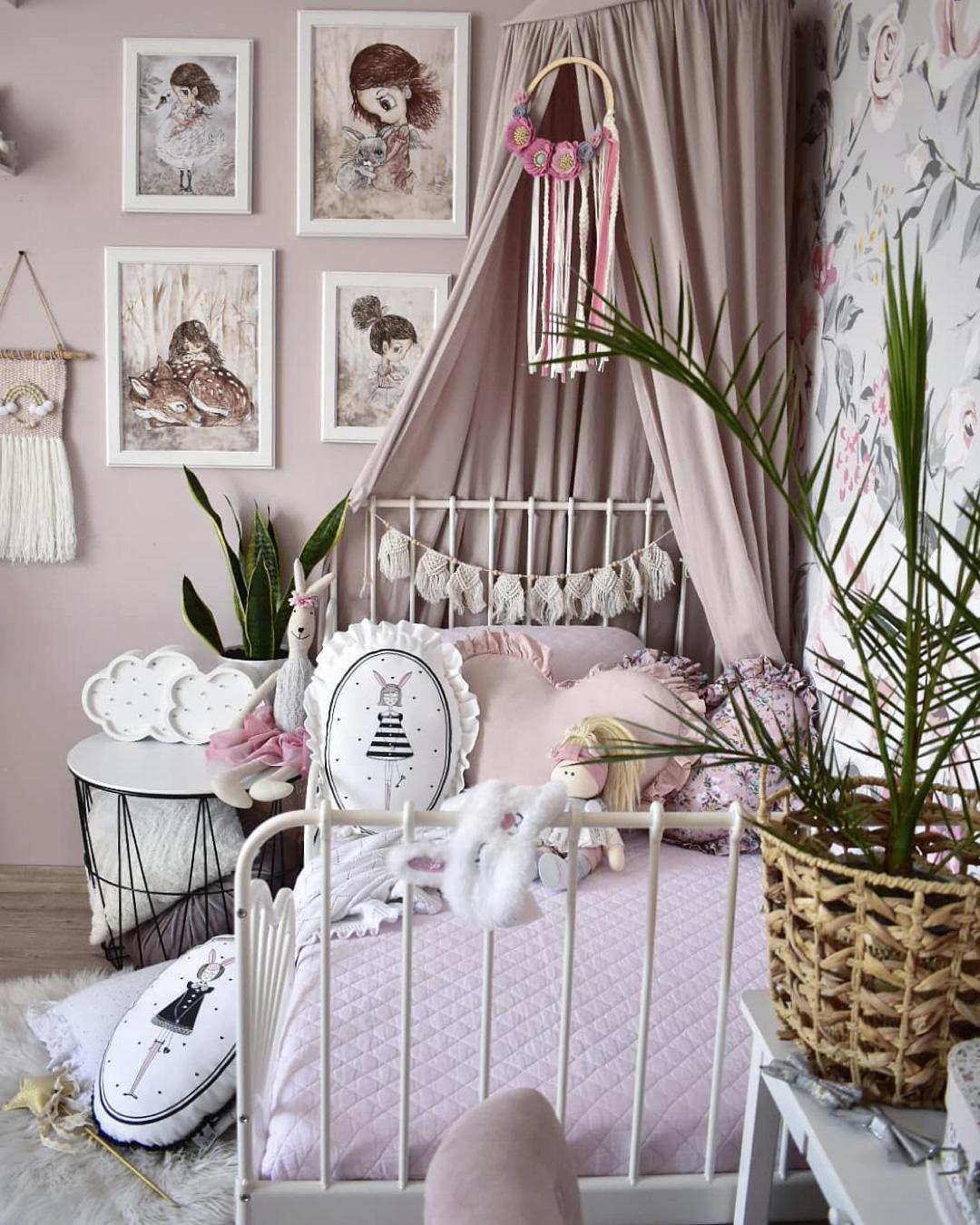 romantic girl's room Ikea bed