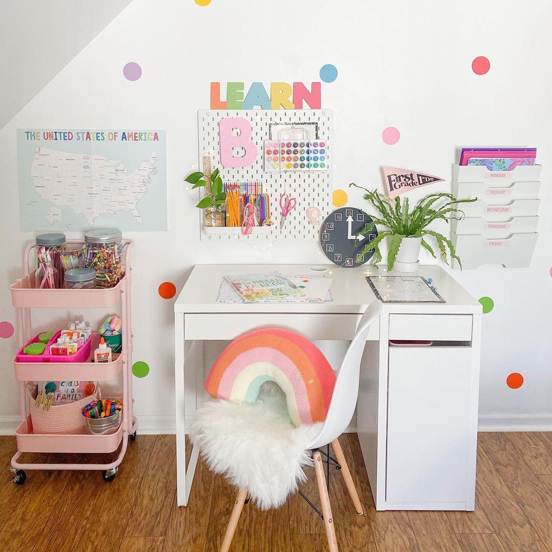 colourful kids study area