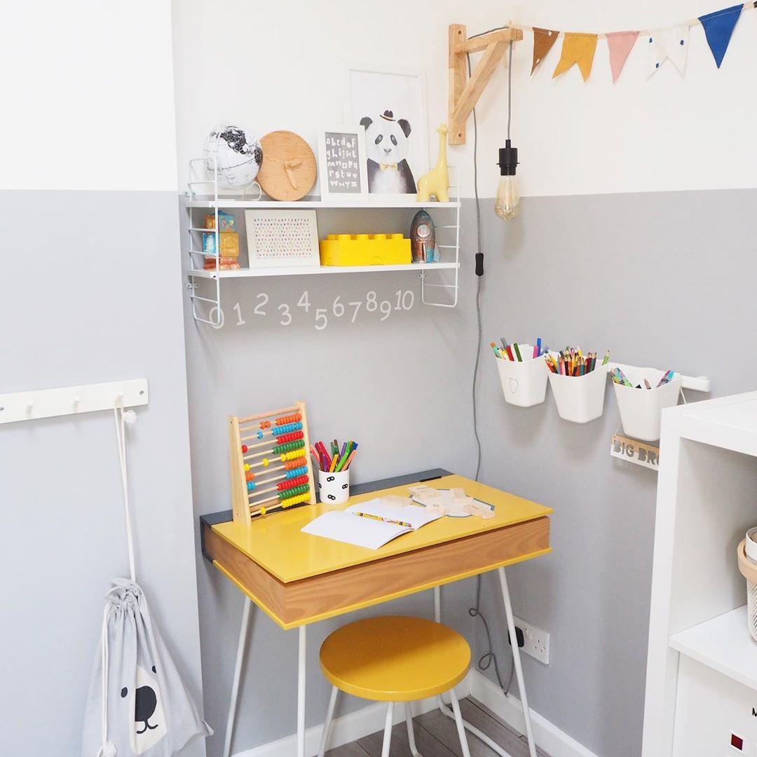 yellow kids desk
