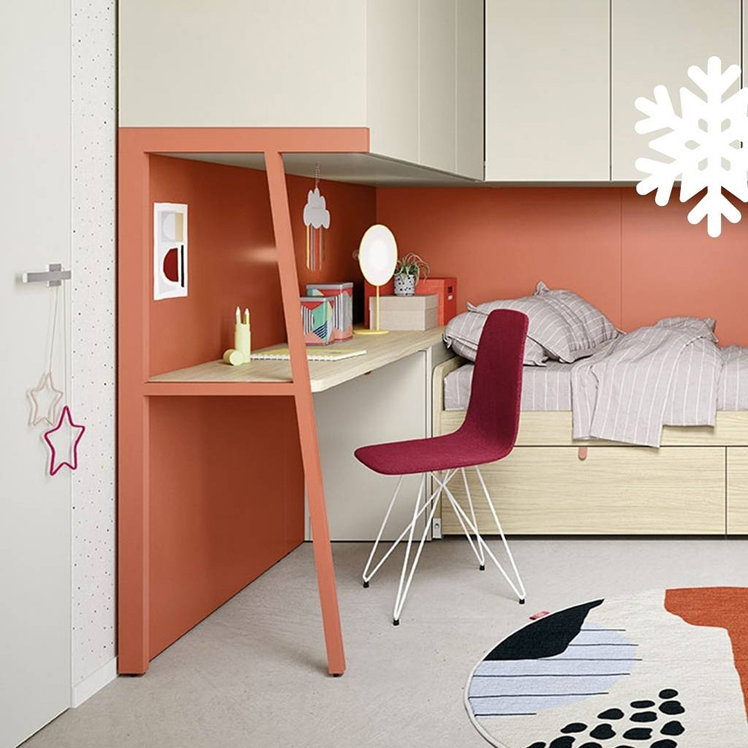 built-in-fitments with desk for kids