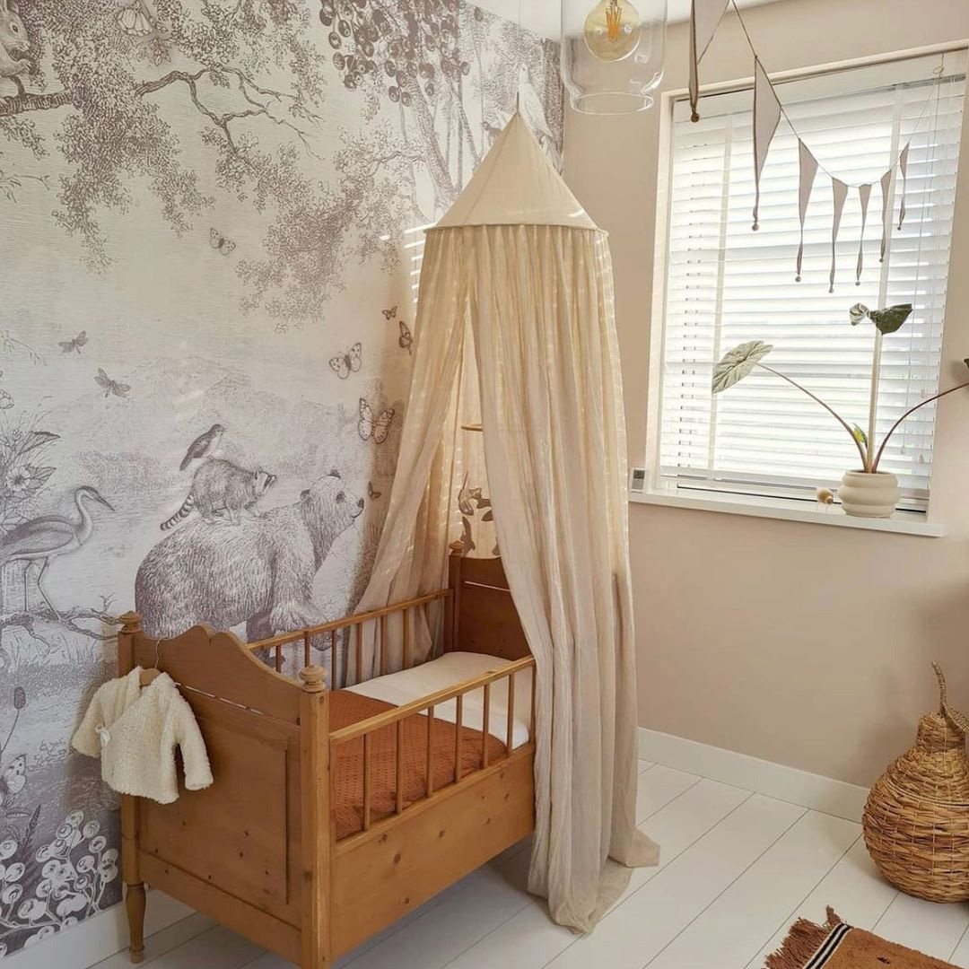 cream white canopy nursery