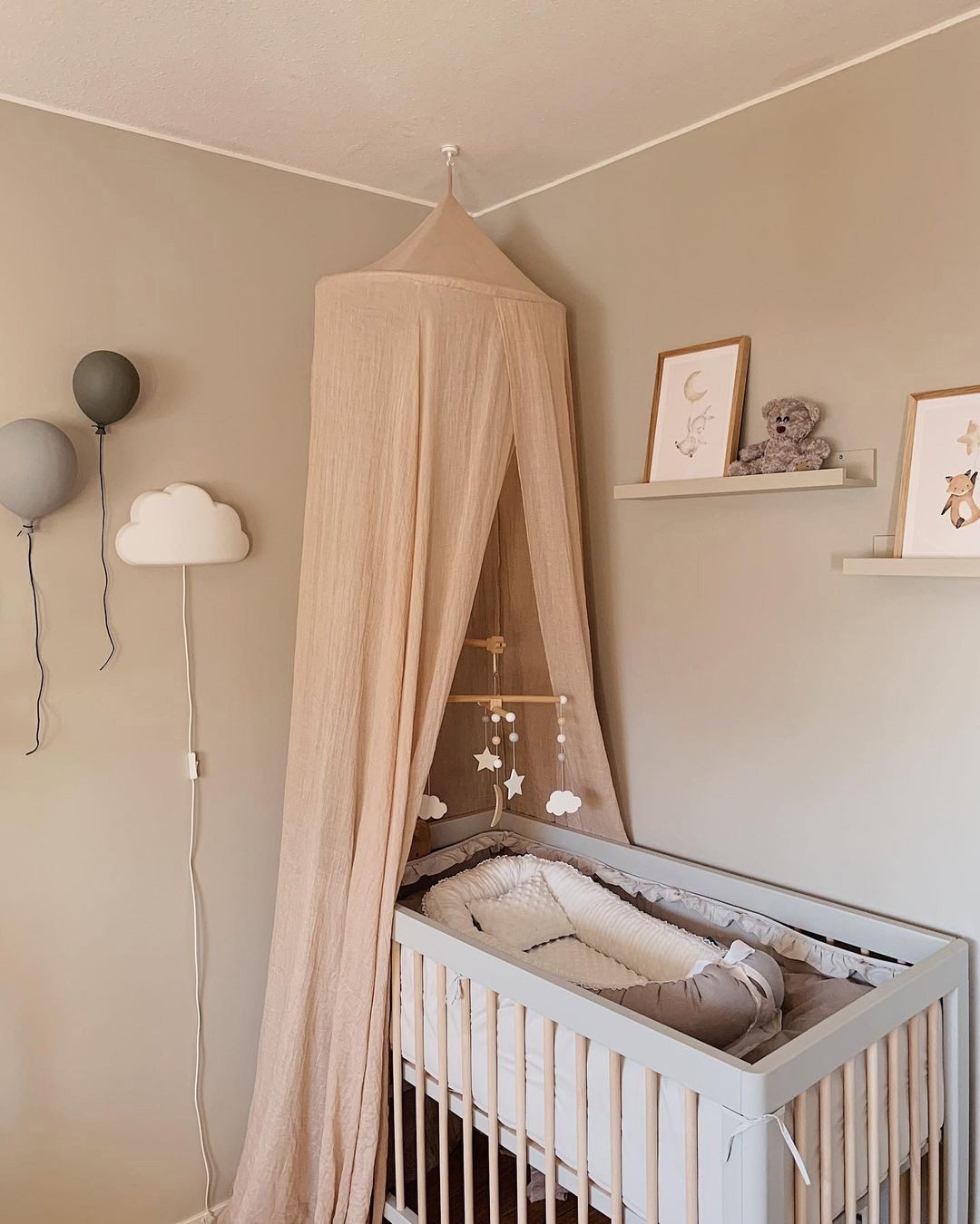 nude tones in baby nursery rooms